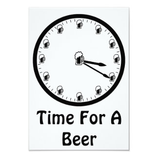 Hora para una cerveza invitación 8,9 x 12,7 cm