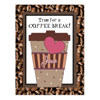 Hora para una postal del descanso para tomar café