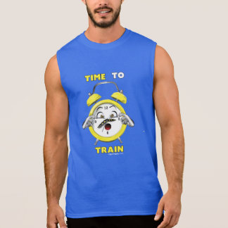 Hora sin mangas azul de entrenar a la camiseta