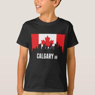 Horizonte canadiense de Calgary de la bandera Camiseta