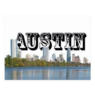 Horizonte de Austin Tejas con Austin en el cielo Postal