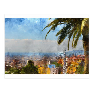 Horizonte de Barcelona España Postal