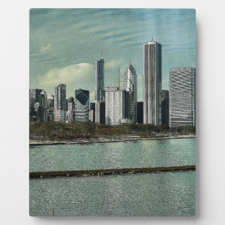 Horizonte de Chicago Placa Expositora