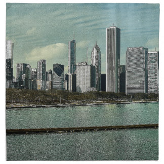 Horizonte de Chicago Servilleta De Tela