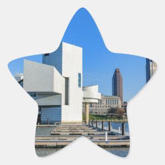 Horizonte de Cleveland Pegatina En Forma De Estrella