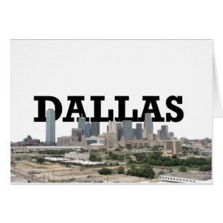 Horizonte de Dallas con Dallas en el cielo Tarjeta De Felicitación