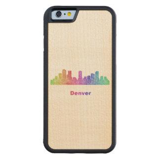 Horizonte de Denver del arco iris Funda De iPhone 6 Bumper Arce