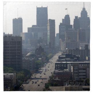 Horizonte de Detroit Servilleta De Tela