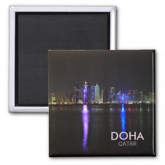 Horizonte de Doha, Qatar en el imán del texto del