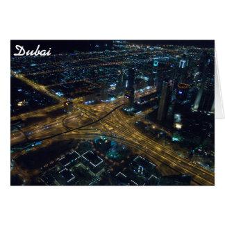 Horizonte de Dubai, United Arab Emirates en la Tarjetón