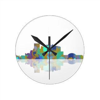 Horizonte de El Paso Tejas Reloj Redondo Mediano