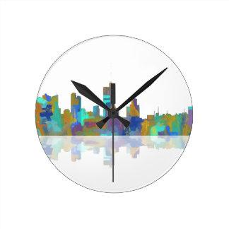 Horizonte de Fort Worth Tejas Reloj Redondo Mediano