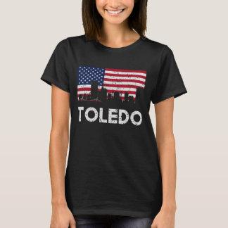 Horizonte de la bandera americana de Toledo OH Camiseta