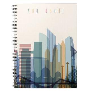 Horizonte de la ciudad de Abu Dhabi, United Arab Cuaderno