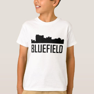 Horizonte de la ciudad de Bluefield Virginia Camiseta
