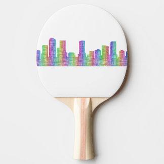 Horizonte de la ciudad de Denver Pala De Ping Pong