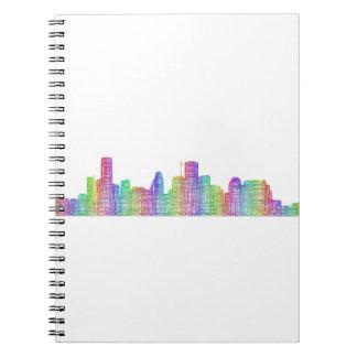 Horizonte de la ciudad de Houston Cuaderno