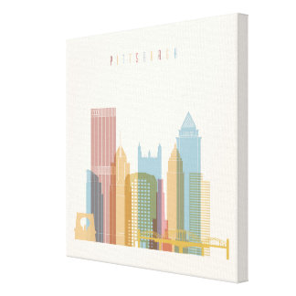 Horizonte de la ciudad de Pittsburgh, Pennsylvania Impresión En Lienzo