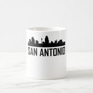 Horizonte de la ciudad de San Antonio Tejas Taza De Café