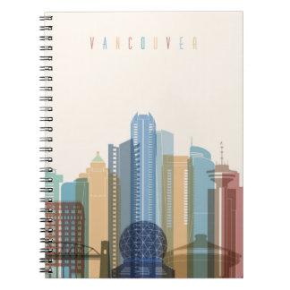 Horizonte de la ciudad de Vancouver, Canadá el | Cuaderno