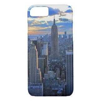 Horizonte de la última hora de la tarde NYC como Funda iPhone 7