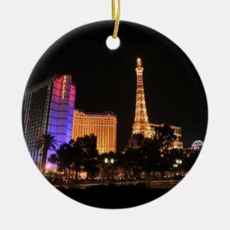 Horizonte de Las Vegas Ornamentos De Navidad