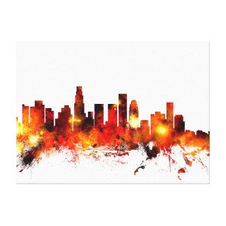 Horizonte de Los Ángeles California Lienzo Envuelto Para Galerías