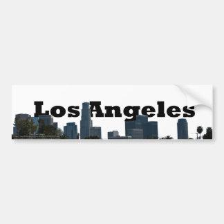 Horizonte de Los Ángeles con Los Ángeles en el cie Pegatina Para Coche