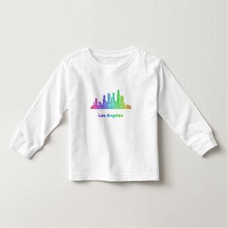 Horizonte de Los Ángeles del arco iris Camisetas