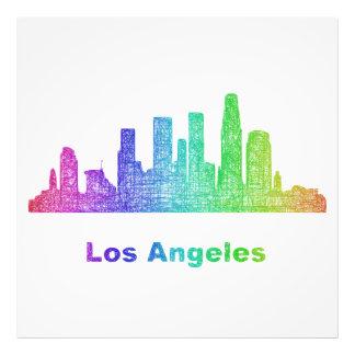 Horizonte de Los Ángeles del arco iris Impresión Fotográfica