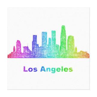 Horizonte de Los Ángeles del arco iris Impresiones En Lona Estiradas