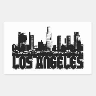 Horizonte de Los Ángeles Pegatina Rectangular