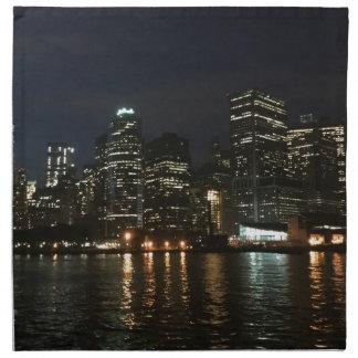 Horizonte de Manhattan Servilleta De Tela