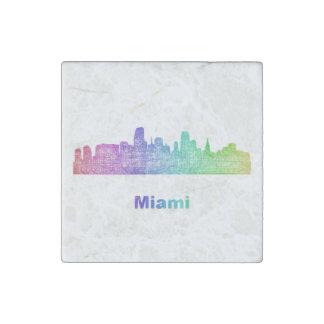 Horizonte de Miami del arco iris Imán De Piedra