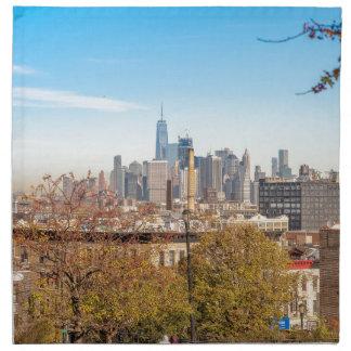 Horizonte de New York City Servilleta De Tela