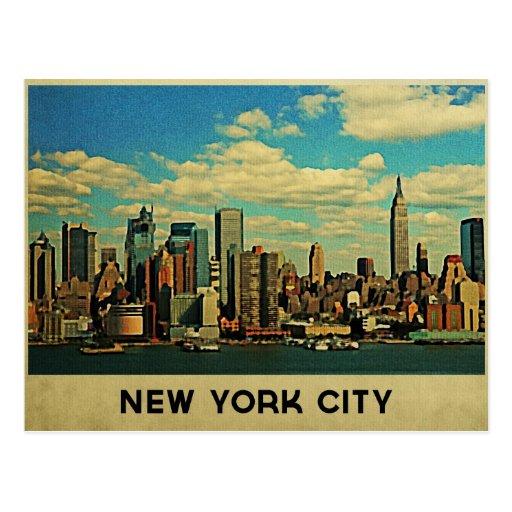 Horizonte de New York City Tarjeta Postal