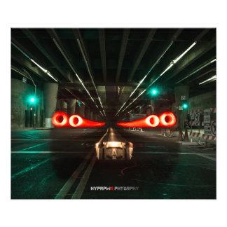 HORIZONTE DE NISSAN R34 GT-R EN LOS ÁNGELES IMPRESION FOTOGRAFICA