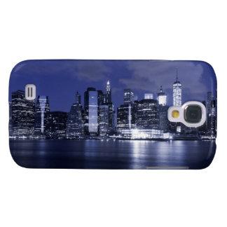 Horizonte de Nueva York bañado en azul Samsung Galaxy S4 Cover