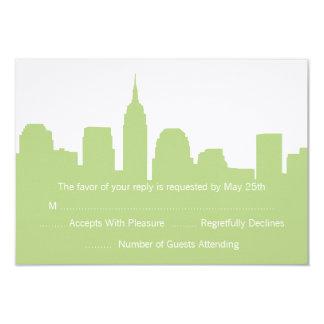 Horizonte de NYC que casa las tarjetas de RSVP Invitación 8,9 X 12,7 Cm