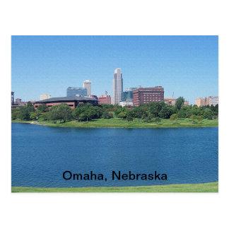 Horizonte de Omaha, Nebraska en lona Postal