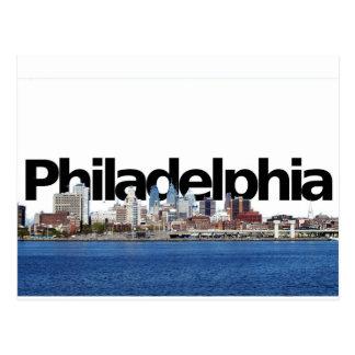 Horizonte de Philadelphia con Philadelphia en el Postal