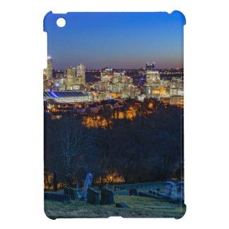 Horizonte de Pittsburgh en la puesta del sol