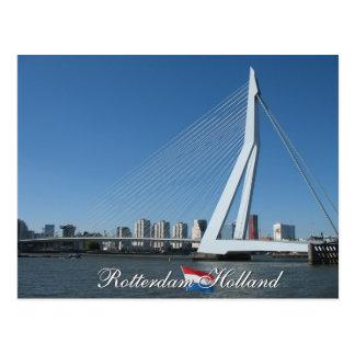 Horizonte de Rotterdam y postal de Holanda del