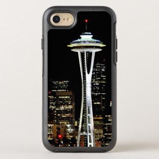 Horizonte de Seattle en la noche, con la aguja del Funda OtterBox Symmetry Para iPhone 7