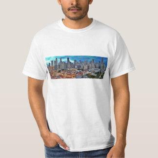 Horizonte de Singapur visto de Chinatown en la Camiseta