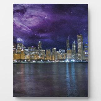 Horizonte de Spacey Chicago Placa Expositora