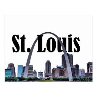 Horizonte de St. Louis con St. Louis en la postal