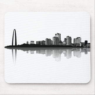 Horizonte de St. Louis Mousepad (b/w)