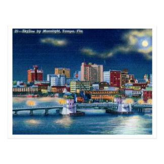 Horizonte de Tampa la Florida del vintage Postal