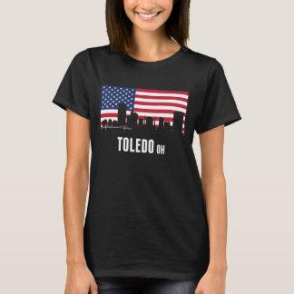 Horizonte de Toledo de la bandera americana Camiseta